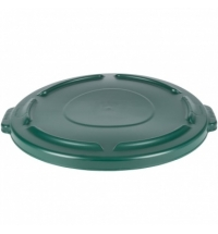 Крышка для контейнера Rubbermaid Brute 121.1л с защелкой, зеленая, FG263100DGRN