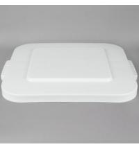 Крышка для контейнера Rubbermaid Brute 151.4л с защелкой, белая, FG353900WHT