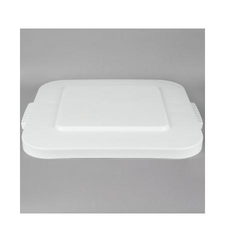 фото: Крышка для контейнера Rubbermaid Brute 151.4л с защелкой, белая, FG353900WHT