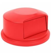 Крышка для контейнера Rubbermaid Brute 166.5л выпуклая, красная, FG264788RED
