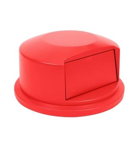 фото: Крышка для контейнера Rubbermaid Brute 166.5л выпуклая, красная, FG264788RED