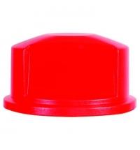 Крышка для контейнера Rubbermaid Brute 121.1л выпуклая, красная, FG263788RED