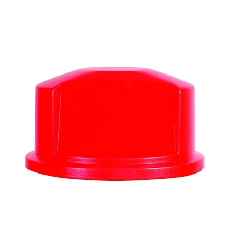 фото: Крышка для контейнера Rubbermaid Brute 121.1л выпуклая, красная, FG263788RED