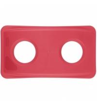 Крышка для контейнера Rubbermaid SlimJim 87л/60л с отверстием для бутылок, красная, FG269288RED