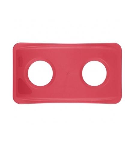 фото: Крышка для контейнера Rubbermaid SlimJim 87л/60л с отверстием для бутылок, красная, FG269288RED