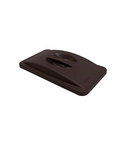 фото: Крышка для контейнера Rubbermaid SlimJim 87л/60л с ручкой, серая, FG268888LGRAY