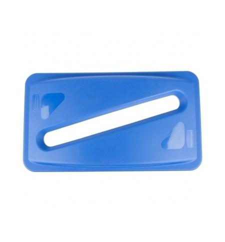 фото: Крышка для контейнера Rubbermaid SlimJim 87л/60л с отверстием для бумаги, синяя, FG270388BLUE