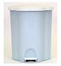 фото: Комплект для раздельной утилизации Rubbermaid Trio 2х17л 1х6л, трехсекционный, белый, R050509