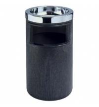 фото: Урна-пепельница напольная Rubbermaid 7.6л черная, FG258600BLA