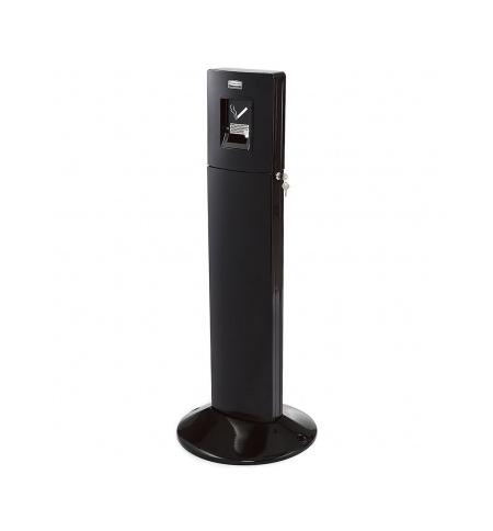 фото: Урна-пепельница напольная Rubbermaid Metropolitan 6л черная, FGR93400BK