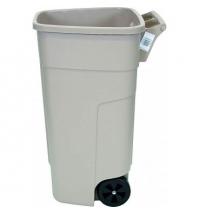 Контейнер-бак для мусора на колесах Rubbermaid 100л бежевый, без крышки, R002218