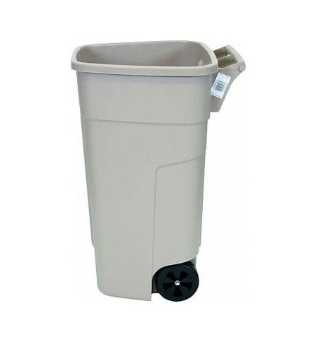 фото: Контейнер-бак для мусора на колесах Rubbermaid 100л бежевый, без крышки, R002218