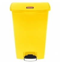 Контейнер для мусора с педалью Rubbermaid Step-On 68л желтый, 1883577
