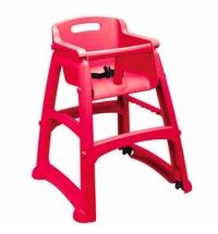 Детский стул для кафе Rubbermaid Sturdy Chair красный пластиковый, с антибактериальной защитой, R050837