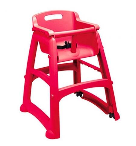 фото: Детский стул для кафе Rubbermaid Sturdy Chair красный пластиковый, с антибактериальной защитой, R050837
