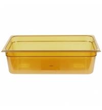 фото: Поддон для горячих продуктов Rubbermaid GN1/1 13л янтарный, FG231P00AMBR
