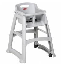 Детский стул для кафе Rubbermaid Sturdy Chair серый пластиковый, с антибактериальной защитой, R050836