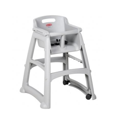 фото: Детский стул для кафе Rubbermaid Sturdy Chair серый пластиковый, с антибактериальной защитой, R050836