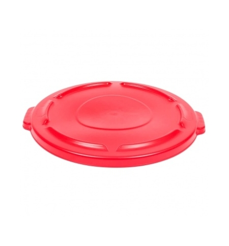 фото: Крышка для контейнера Rubbermaid Brute 121.1л с защелкой, красная, FG263100RED