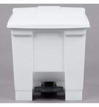 Контейнер для мусора с педалью Rubbermaid Step-on Can 30.3л, белый, FG614300WHT