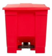 Контейнер для мусора с педалью Rubbermaid Step-on Can 30.3л, красный, FG614300RED