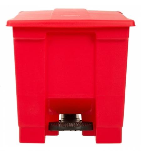 фото: Контейнер для мусора с педалью Rubbermaid Step-on Can 30.3л, красный, FG614300RED