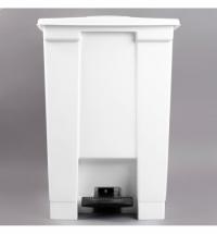 Контейнер для мусора с педалью Rubbermaid Step-on Can 45.4л, белый, FG614400WHT