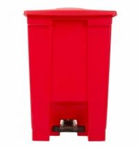 Контейнер для мусора с педалью Rubbermaid Step-on Can 45.4л, красный, FG614400RED