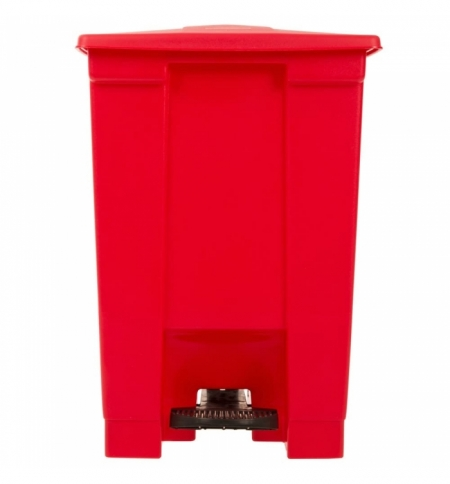 фото: Контейнер для мусора с педалью Rubbermaid Step-on Can 45.4л, красный, FG614400RED