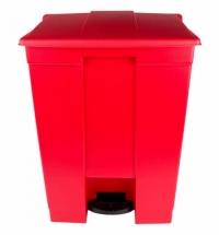 Контейнер для мусора с педалью Rubbermaid Step-on Can 68.1л, красный, FG614500RED