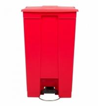 Контейнер для мусора с педалью Rubbermaid Step-on Can 87л, красный, FG614600RED