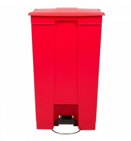 фото: Контейнер для мусора с педалью Rubbermaid Step-on Can 87л, красный, FG614600RED