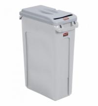 Контейнер для мусора Rubbermaid SlimJim 87л, серый, для конфиденциальных документов, FG9W1600LGRAY