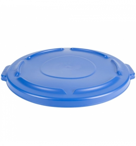 фото: Крышка для мусорного контейнера Rubbermaid Brute 121.1л, с защелкой, синяя, FG263100BLUE
