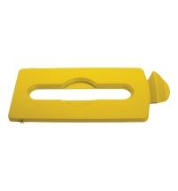 фото: Крышка для мусорного контейнера Rubbermaid Slim Jim бумага, желтая, 2007882