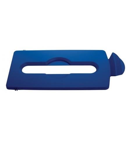 фото: Крышка для мусорного контейнера Rubbermaid Slim Jim бумага, синяя, 2007890