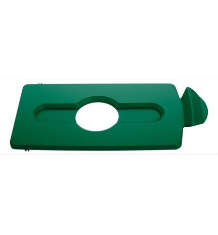 фото: Крышка для мусорного контейнера Rubbermaid Slim Jim бутылки / банки, зеленая, 2007885
