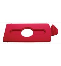 Крышка для мусорного контейнера Rubbermaid Slim Jim бутылки / банки, красная, 2007193