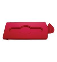 фото: Крышка для мусорного контейнера Rubbermaid Slim Jim закрытая, красная, 2007192