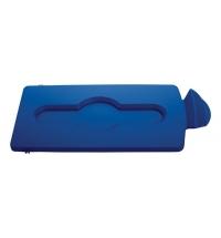 Крышка для мусорного контейнера Rubbermaid Slim Jim закрытая, синяя, 2007888