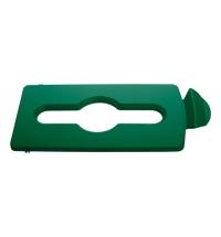 Крышка для мусорного контейнера Rubbermaid Slim Jim смешанные отходы, зеленая, 2007887