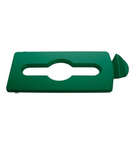 фото: Крышка для мусорного контейнера Rubbermaid Slim Jim смешанные отходы, зеленая, 2007887