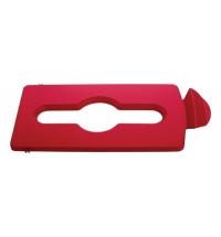 Крышка для мусорного контейнера Rubbermaid Slim Jim смешанные отходы, красная, 2007195