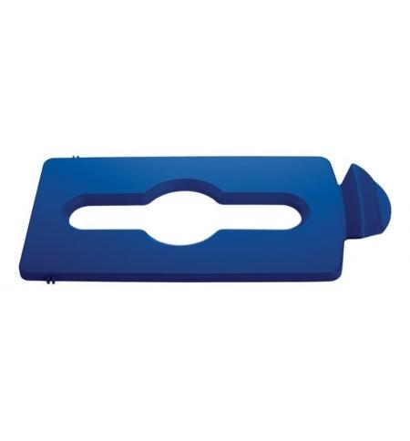 фото: Крышка для мусорного контейнера Rubbermaid Slim Jim смешанные отходы, синяя, 2007891