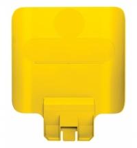 Информационная табличка для контейнера Rubbermaid Slim Jim желтая, 2007907