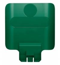 Информационная табличка для контейнера Rubbermaid Slim Jim зеленая, 2007908
