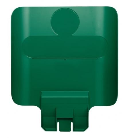 фото: Информационная табличка для контейнера Rubbermaid Slim Jim зеленая, 2007908